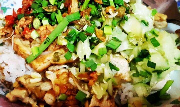 kumpulan resep masakan Nusantara, Resep masakah khas cirebon, makanan khas cirebon, cara membuat Nasi Lengko, sega lengko
