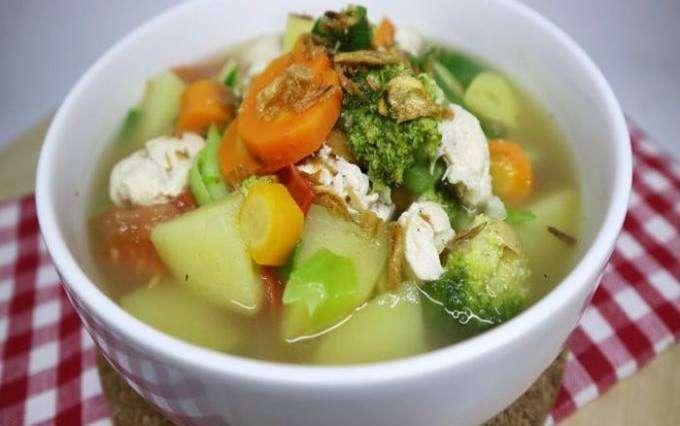 cara membuat sayur sop ayam, resep sayur sop ayam, resep sehari-hari