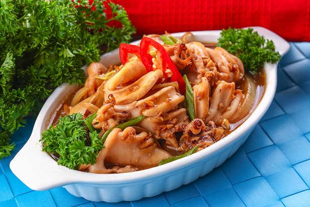 cara memasak cumi, resep cumi saus tiram, cara memasak cumi saus tiram, aneka masakan cumi