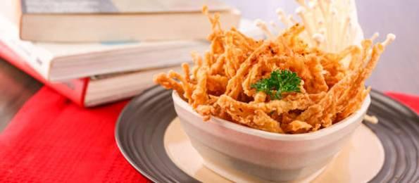 resep jamur enoki goreng crispy, cara memasak jamur enoki goreng crispy, resep jamur enoki